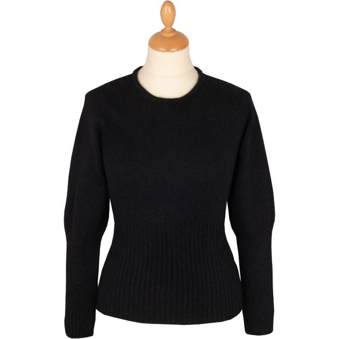 Black Possum Merino Crew Neck