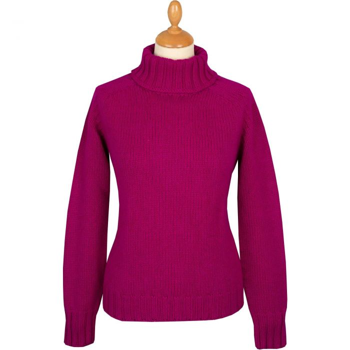 Pink Geelong Chunky Roll Neck