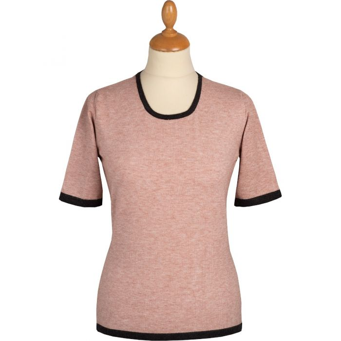 Pink and Grey Contrast Top