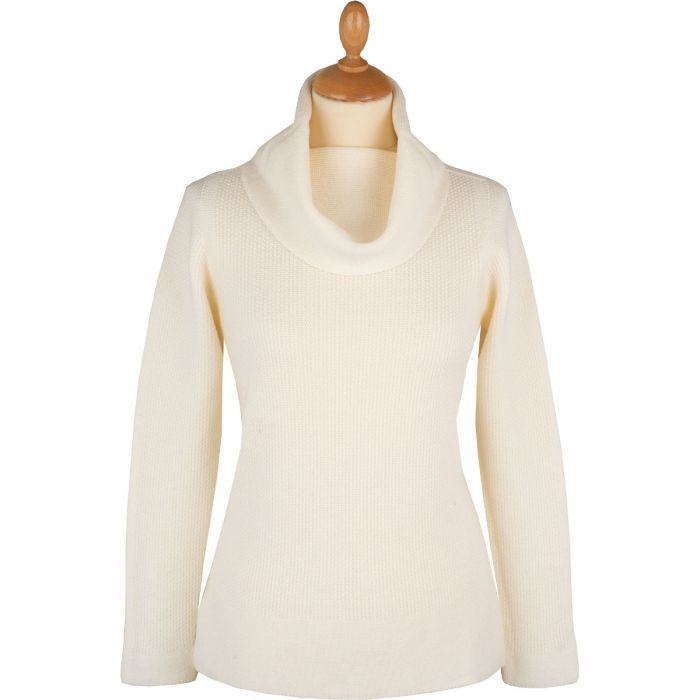 Cream Merino Scoop Neck Jumper