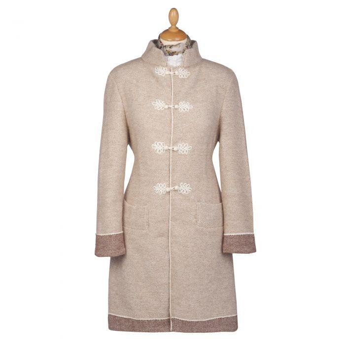 Cream British Made Alpaca Cardigan Coat