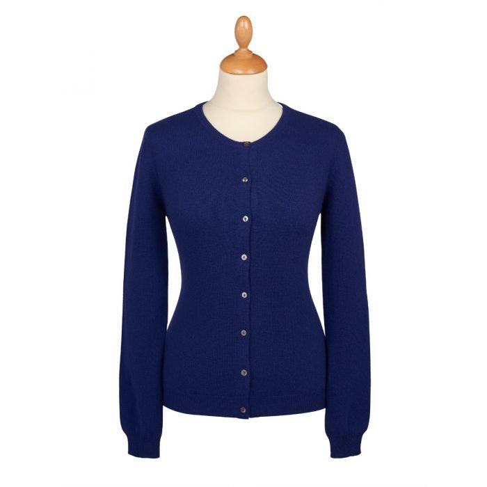 Navy Blue Cashmere Cardigan