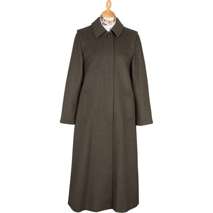 Olive Green Loden Coat