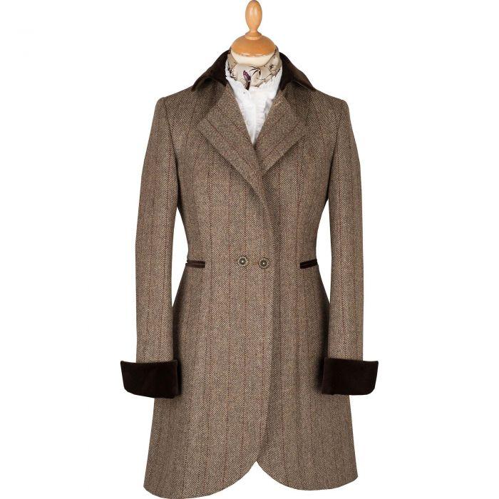 Bracken Toscana Velvet Trim Tba Coat