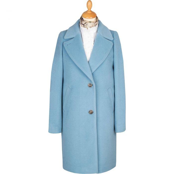 Powder Blue Alpaca Coat