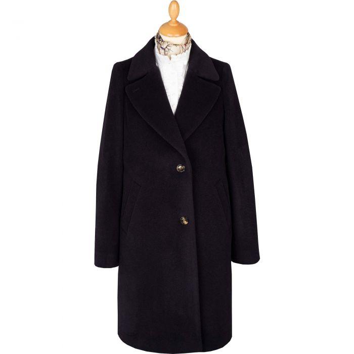 Navy Blue Alpaca Coat