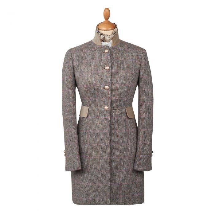 Castleford Harris Tweed Nehru Coat