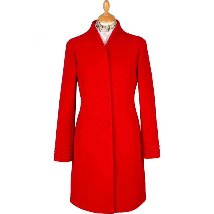 Red Long Fluted Coat