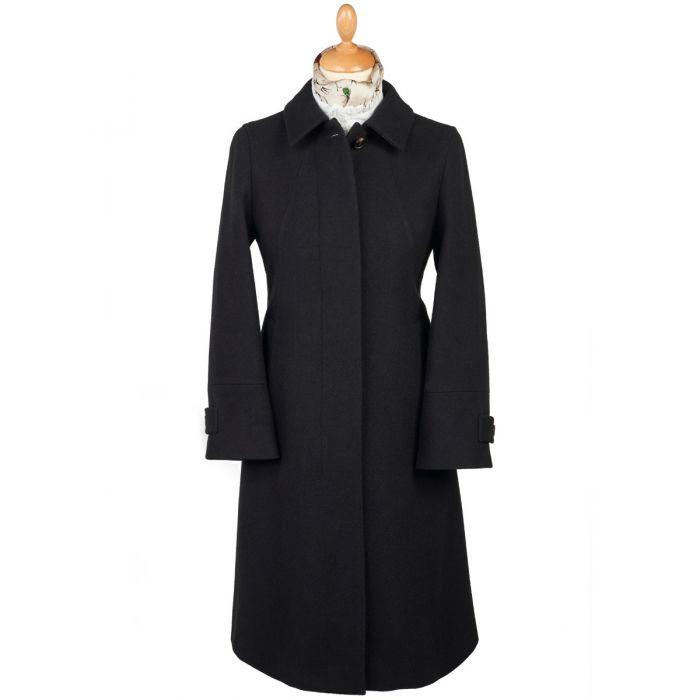 Black Austrian Loden Swing Coat