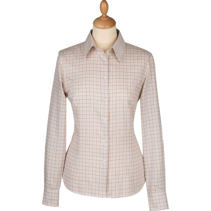 Soft Cream Tattersall Shirt