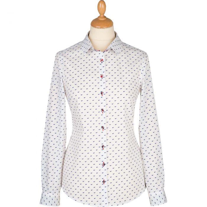 Scotty Dog White Cotton Shirt