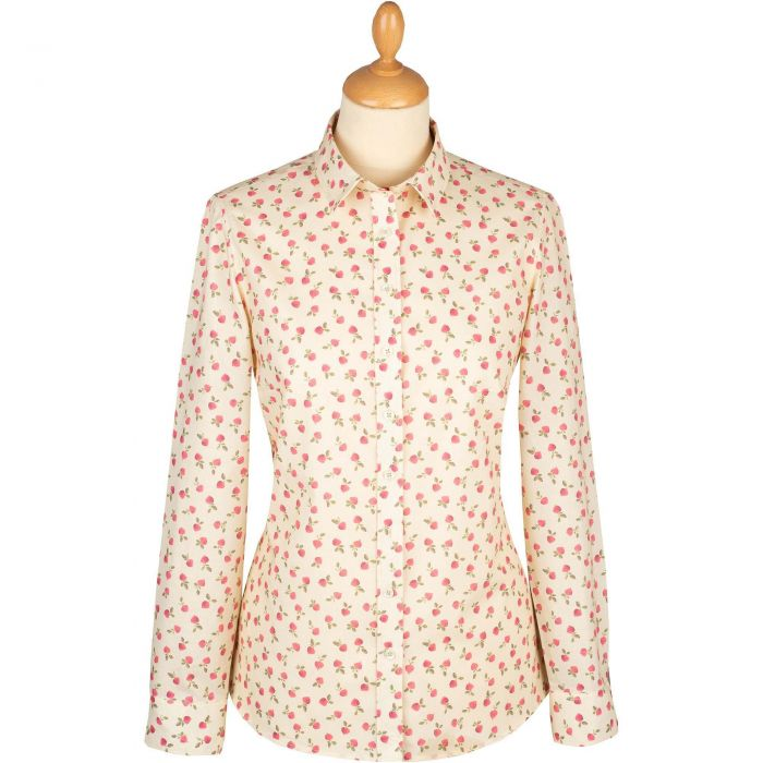 Flower Buds Cotton Shirt
