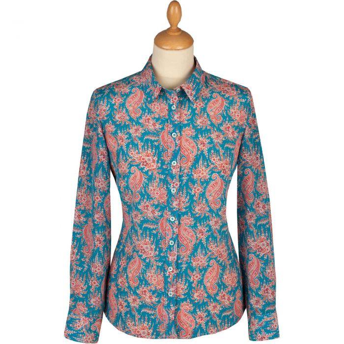 Palm Paisley Liberty Silk Shirt