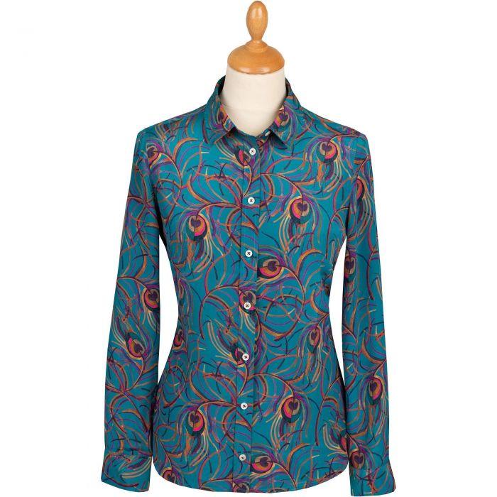Isadora Feather Crepe Silk Liberty Shirt