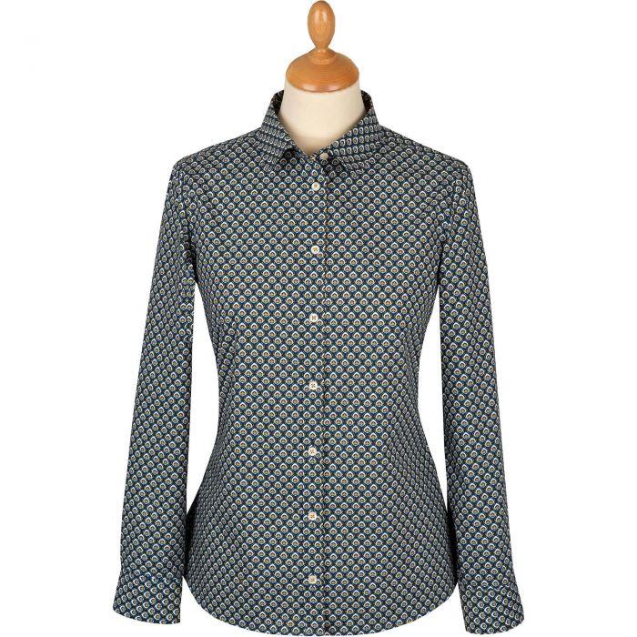 Navy Ocelli Liberty Tana Lawn Shirt