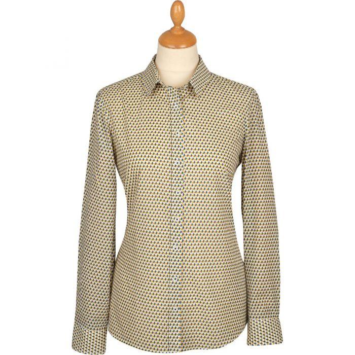 Aztec Seersucker Cotton Shirt