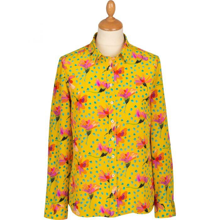 Yellow Sun Daisy Silk Liberty Shirt
