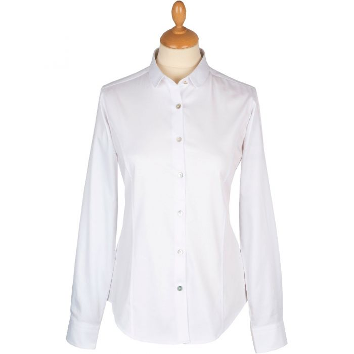 White Peter Pan Collar Shirt