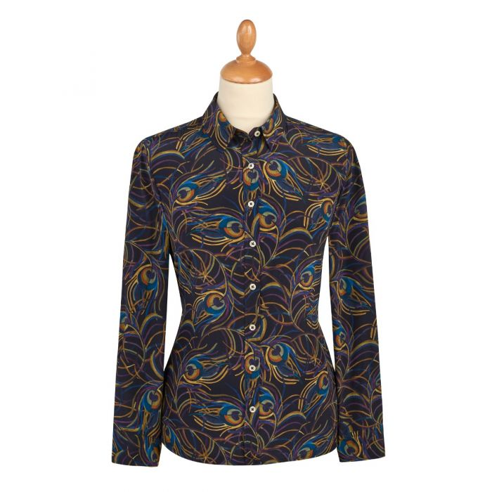 Isadora Feather Liberty Crepe Silk Shirt