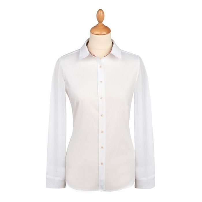White Liberty Trimmed Emma & Georgina Cotton Shirt