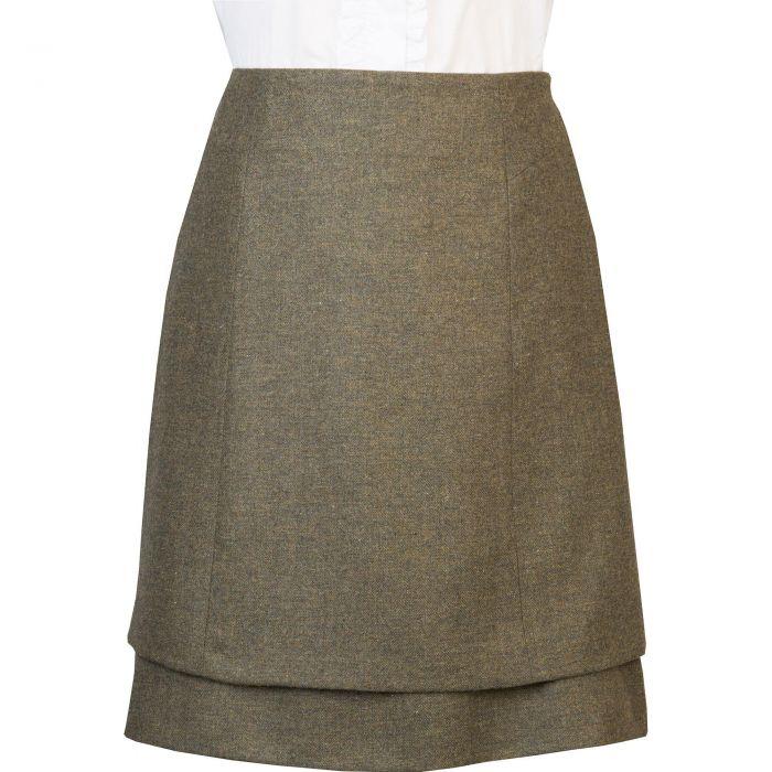 Green Barton Tweed Skirt