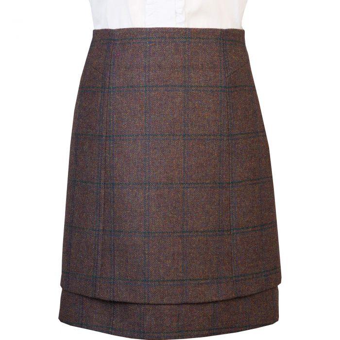Ramsey Tweed Layered Tweed Skirt
