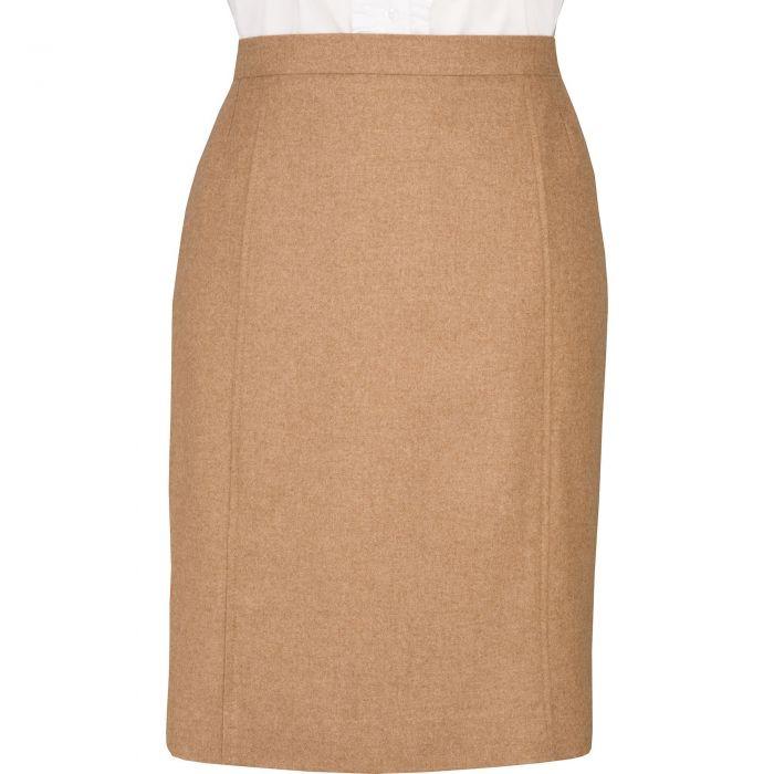 Camel Loden Pencil Skirt