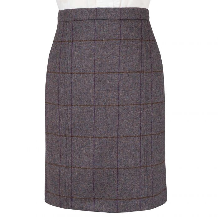 Plum Shropshire Pencil Skirt