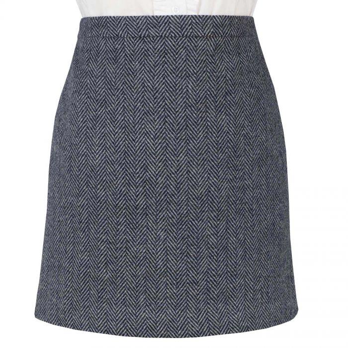 Navy Carlisle Short Skirt