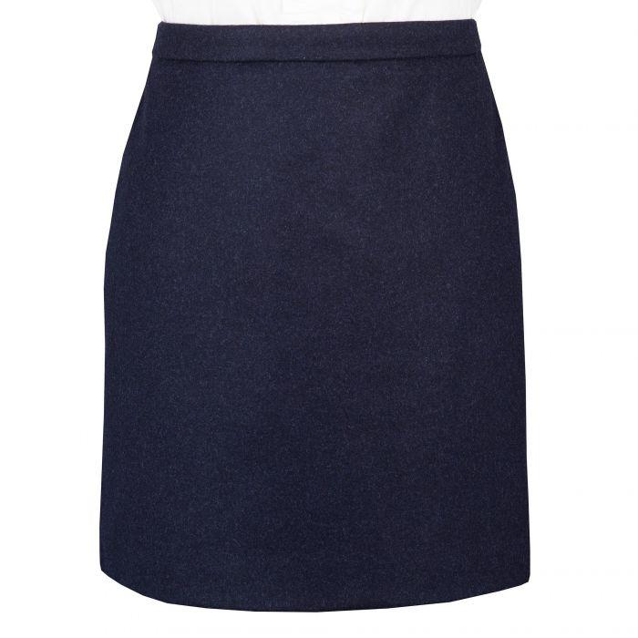 Loden Navy Short Skirt