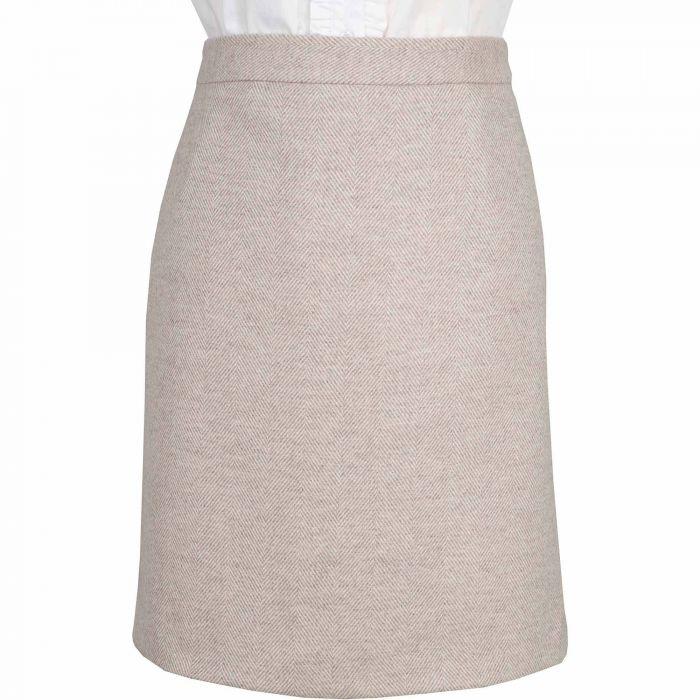 Lancing Herringbone Tweed Short Skirt