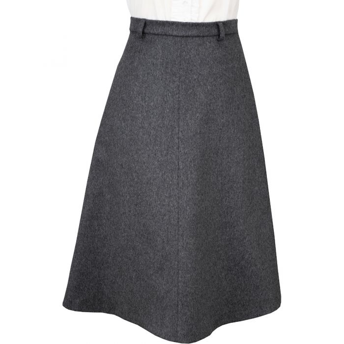 Light Grey A Line Loden Skirt