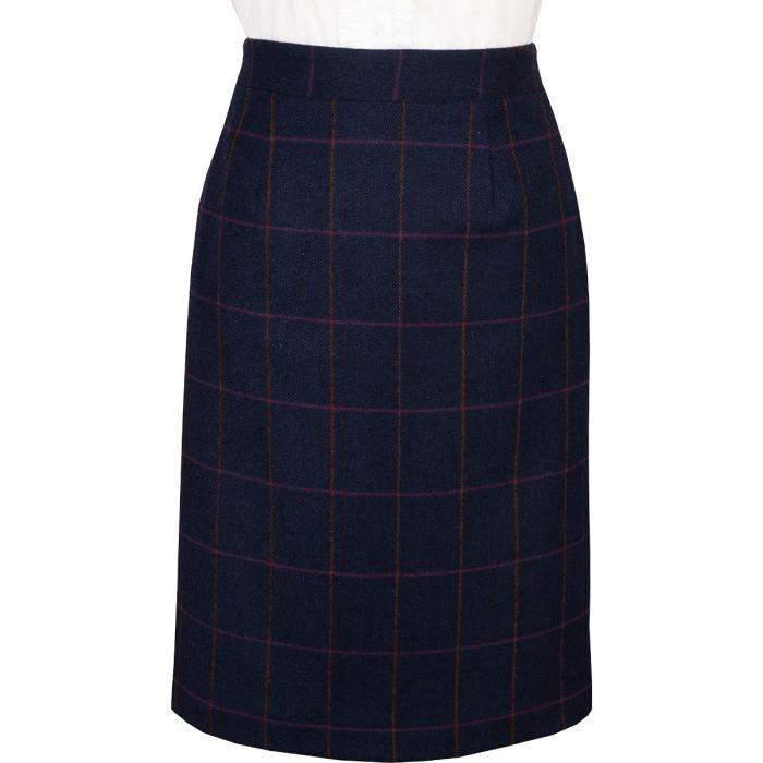 Navy Cowley Pencil Skirt