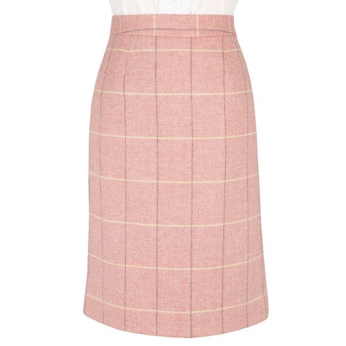 Pink Richmond Tweed Pencil Skirt