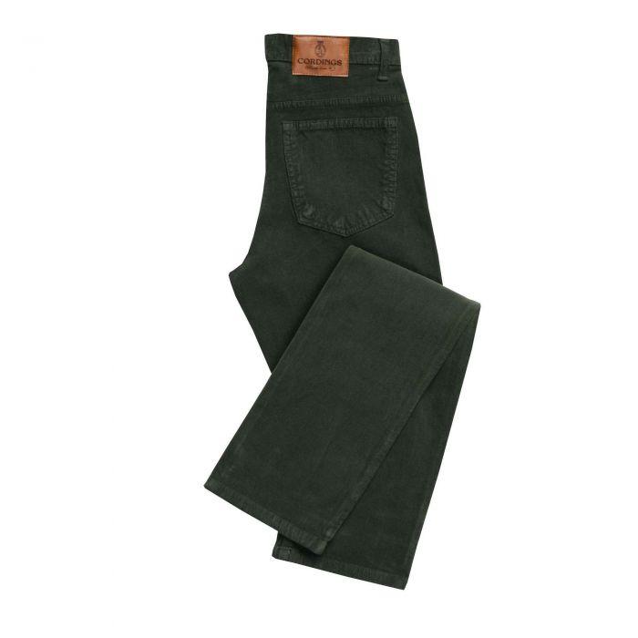 Olive Babycord Slim Jeans