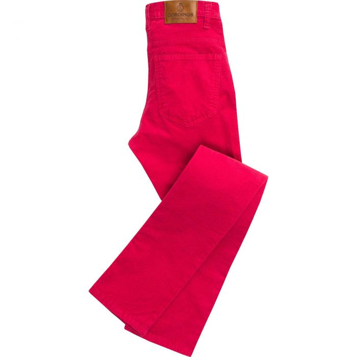 Raspberry Babycord Slim Jeans