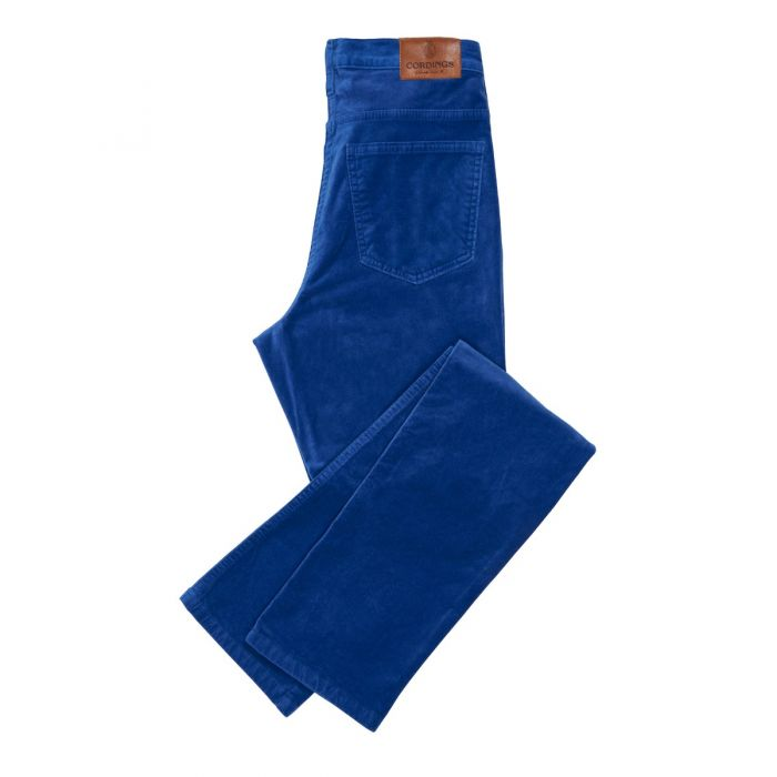 Rich Blue stretch velvet jeans
