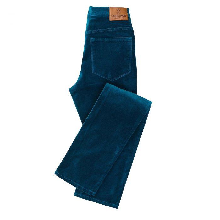 Blue Petrol stretch velvet jeans