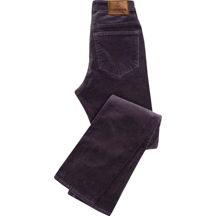 Violet stretch velvet jeans