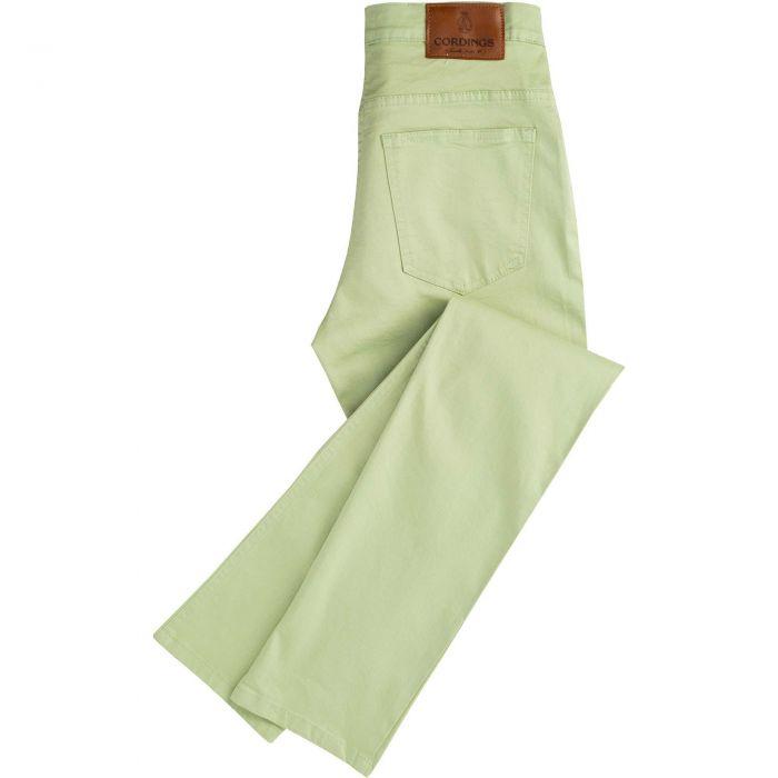 Lime Stretch Cotton Slim Leg Trousers