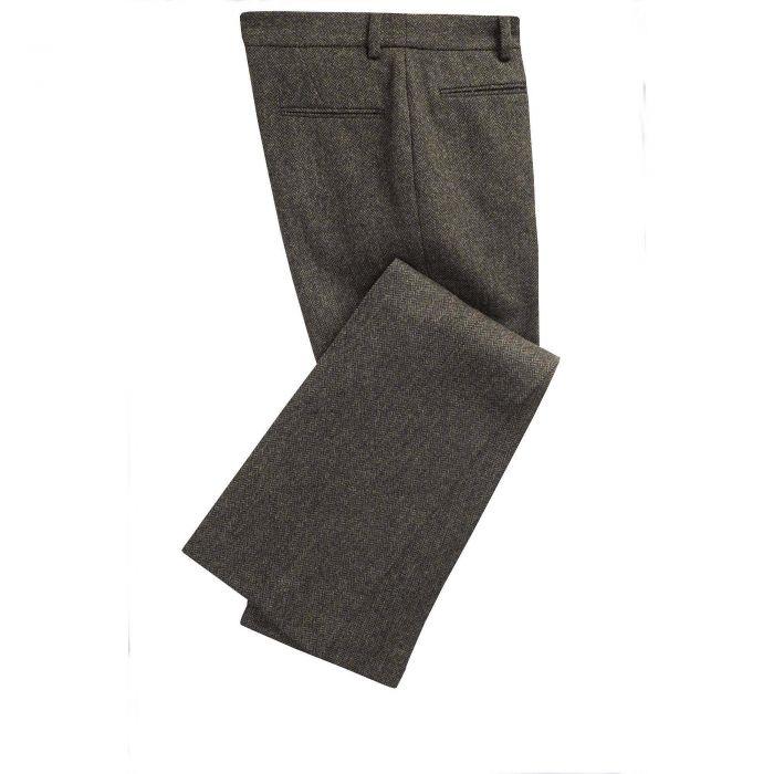 Green Wetherby Tweed Pencil Trouser