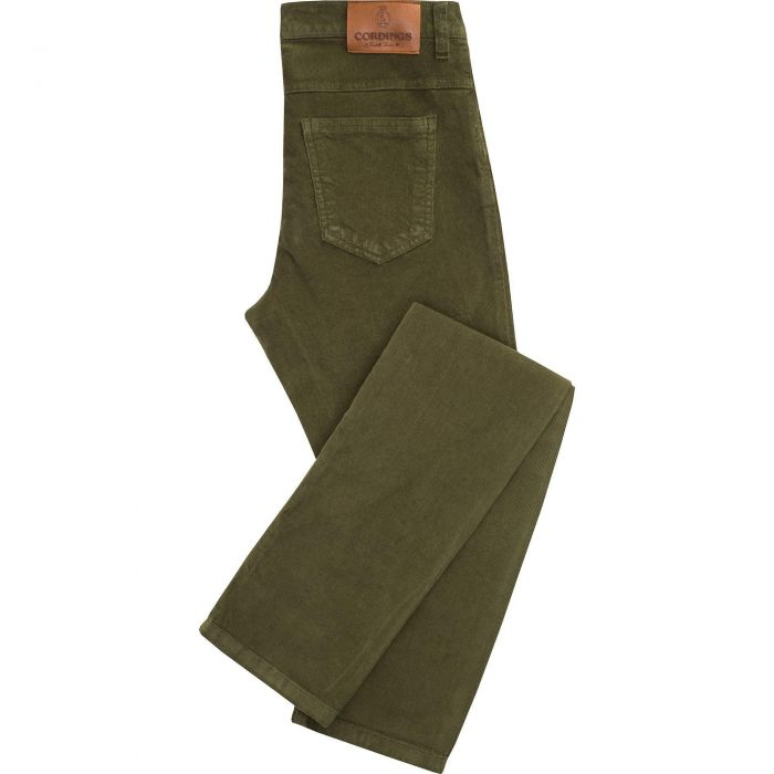 Moss Green Stretch Needlecord Jeans