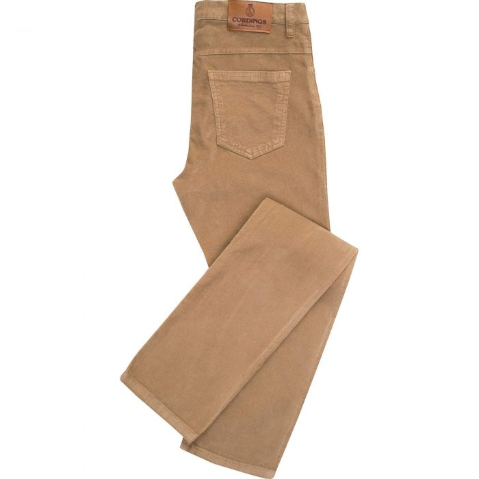 Beige Stretch Needlecord Jeans