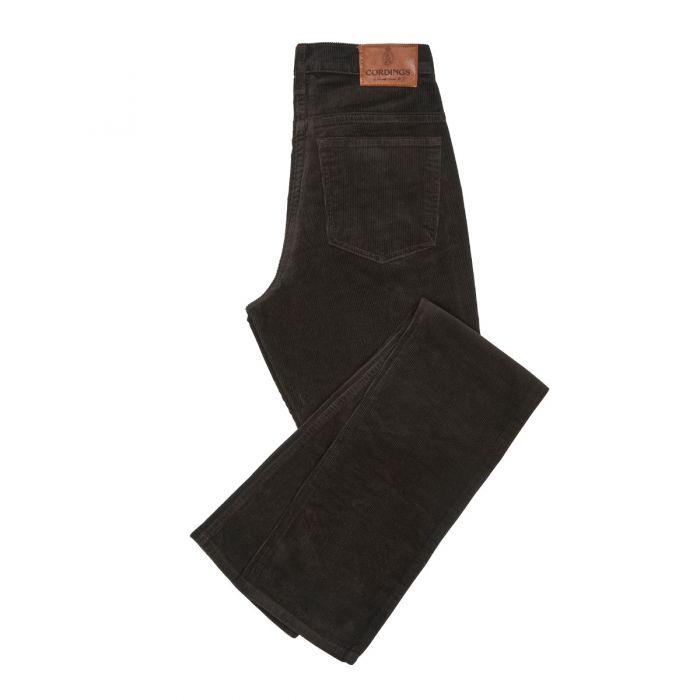 Chocolate Soft Stretch Needlecord Jeans
