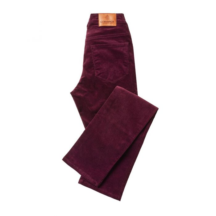 Plum Classic Needlecord Jeans