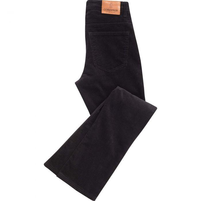 Black Soft Stretch Needlecord Jeans