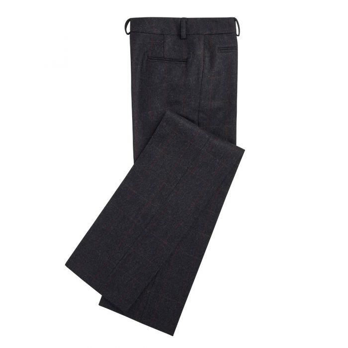 Grey Shaftesbury Tweed Pencil Trousers