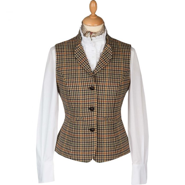 Wincanton Tweed Fitted Collared Waistcoat