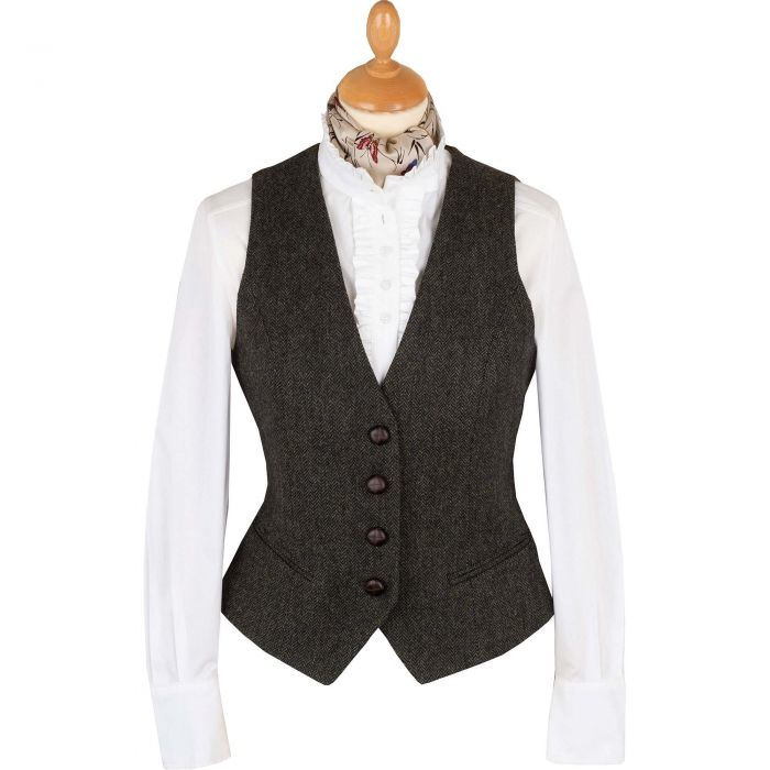 Green Wetherby Tweed Tailored Waistcoat