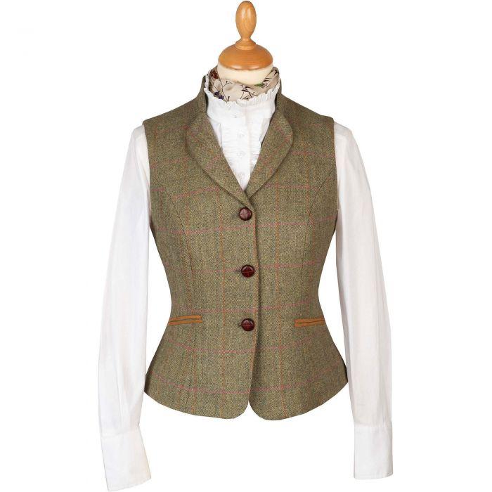 Green Chertsey Fitted Waistcoat